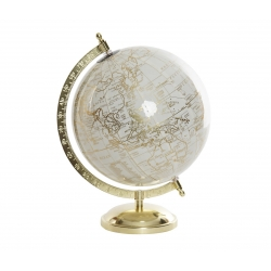 Bola del Mundo,Terraqueo blanco 20 cm