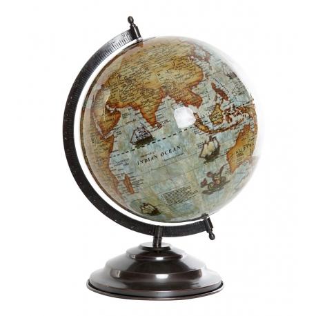 Bola del Mundo,Terraqueo Azul 35 cm