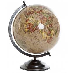 Bola del Mundo,Terraqueo beige 40 cm