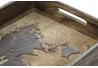 Bandeja mango madera tallado mapamundo