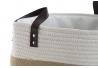 Cesta pongotodo para ropa de algodon jute 38x38x55 cm