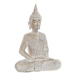 Figura buda resina envejecido decoracion 41 cm
