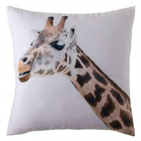 "Cojín infantil ""jirafa"" verde blanco-marrón 45 x 45 cm"