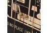 Caja de madera para llaves con 10 ganchos negra nórdica de 30x23 cm