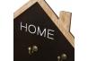 Cuelga llaves de madera con 8 ganchos negro nórdico de 34x40 cm