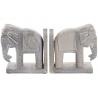 Sujetalibros madera mango elefantes