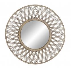 Espejo de pared minbre natural marron 80 cm