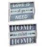 Pack 2 Bandeja de madera cristal Love y Home
