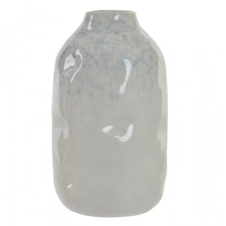 Jarrón porcelana blanco brillante para decoración