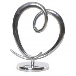 Decoracion aluminio corazon 28x14x33 cm