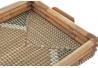 Bandeja de seagrass ratan zigzag 52x33x7 cm