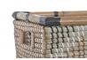 Juego de 2 cestas seagrass ratan zigzag