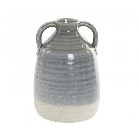 Jarrón porcelana con asa para decoración 16x24 cm