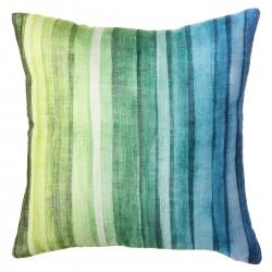 """Cojín moderno """"rainbow"""" azul-verde 43 x 43 cm ideal para dormitorio fantasy"""