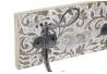 Perchero de pared madera mango metal 4 colgadores decape
