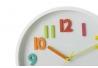 Reloj de pared infantil blanco de plástico para dormitorio Child