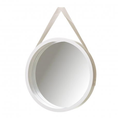 Espejo blanco polipropileno 40 x 4 x 40 cm .