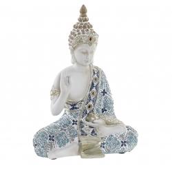 Figura buda resina envejecido decoracion 21 cm