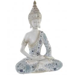 Figura buda resina envejecido decoracion 33 cm