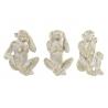 Set 3 Figura mono resina para decoracion surtido