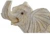 Figura elefante resina decape beige grande