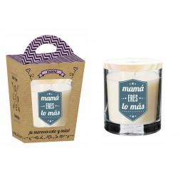 """Vela Aromatica con frase original """"MAMA ERES LO MAS"""" ideal para dia de madre"""