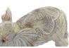 Figura elefante resina decape beige