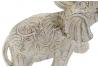 Figura elefante resina decape beige 19x8x18 cm