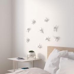 Decoracíon de pared pajaros (9) blanco