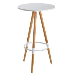 Mesa auxiliar nórdica blanca de madera para cocina Fantasy