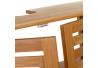 Mueble bajo lavabo nórdico marrón de bambú para cuarto de baño Basic