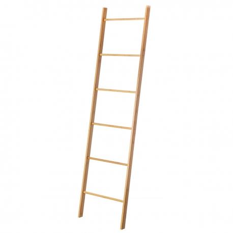 Toallero escalera nórdico marrón de bambú para cuarto de baño Basic