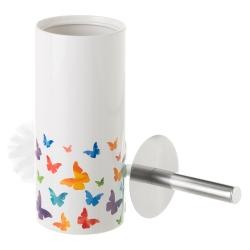Escobilla de baño de cerámica blanca romántica para cuarto de baño Fantasy