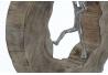 Figura decoracion madera mango personas 29x7x30 cm