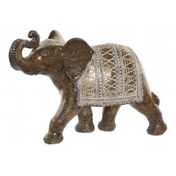Figura elefante resina dorado 37x13x24 cm
