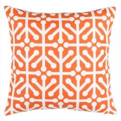 "Cojin ""liminka"" naranja 100% algodón 45 x 45 cm alta calidad para dormitorio moderno"