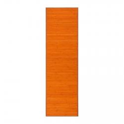 Alfombra Pasillera Oriental Naranja De Bambú De 60 X 200 Cm Sol Naciente