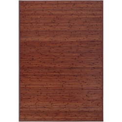 Alfombra de salón o comedor industrial marrón de bambú de 140 x 200 cm Factory