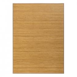 Alfombra de salón o comedor oriental marrón de bambú de 180 x 250 cm Sol Naciente
