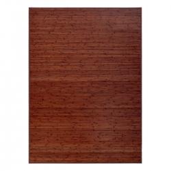 Alfombra de salón o comedor industrial marrón de bambú de 180 x 250 cm Factory