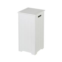 Cesto de madera blanco de ropa contemporáneo de 29x29x60 cm