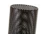 Lámpara de mesita de noche cilíndrica nórdica de metal y madera negra de 30 cm