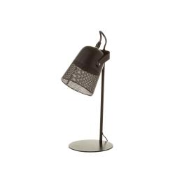 Lámpara foco calado vintage de metal negra de 38 cm