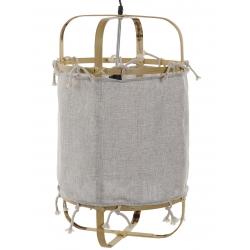 Lámpara de techo rústica bambu natural poliester