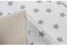 Juego de 2 tapete escurridor microfibra gris y beige estrellas 48x40 cm