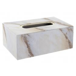 Caja para pañuelos efecto marmol