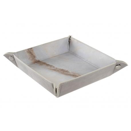 Vaciabolsillos con efecto marmol 15x15 cm