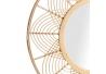 Espejo de natural de bambu, decoracion vintage de 80 cm