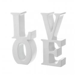 Sujetalibros original blanco poliresina love