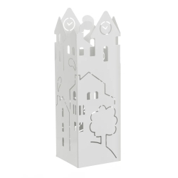 Paraguero metal blanco casita